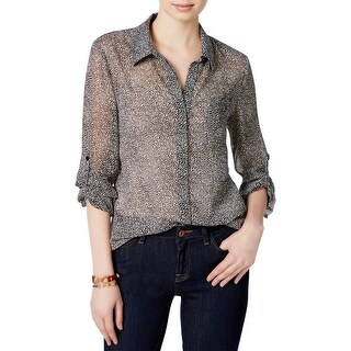 Tommy Hilfiger Womens Blouse Printed Long Sleeves