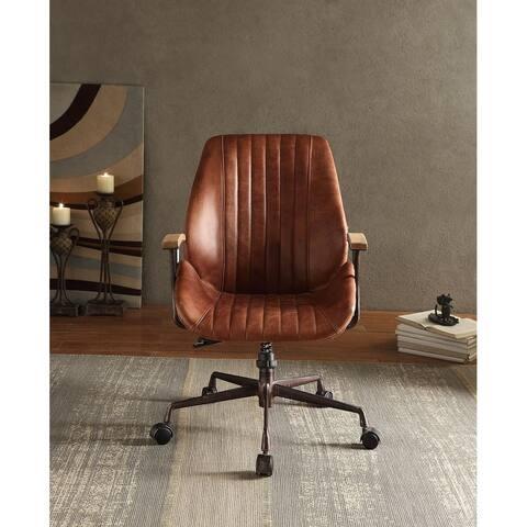 Moda Hamilton Office Chair in Cocoa Top Grain Leather