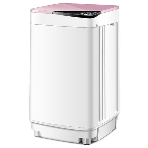 Full-Automatic Washing Machine 10 lbs Washer/Spinner Germicidal UV Light Pink