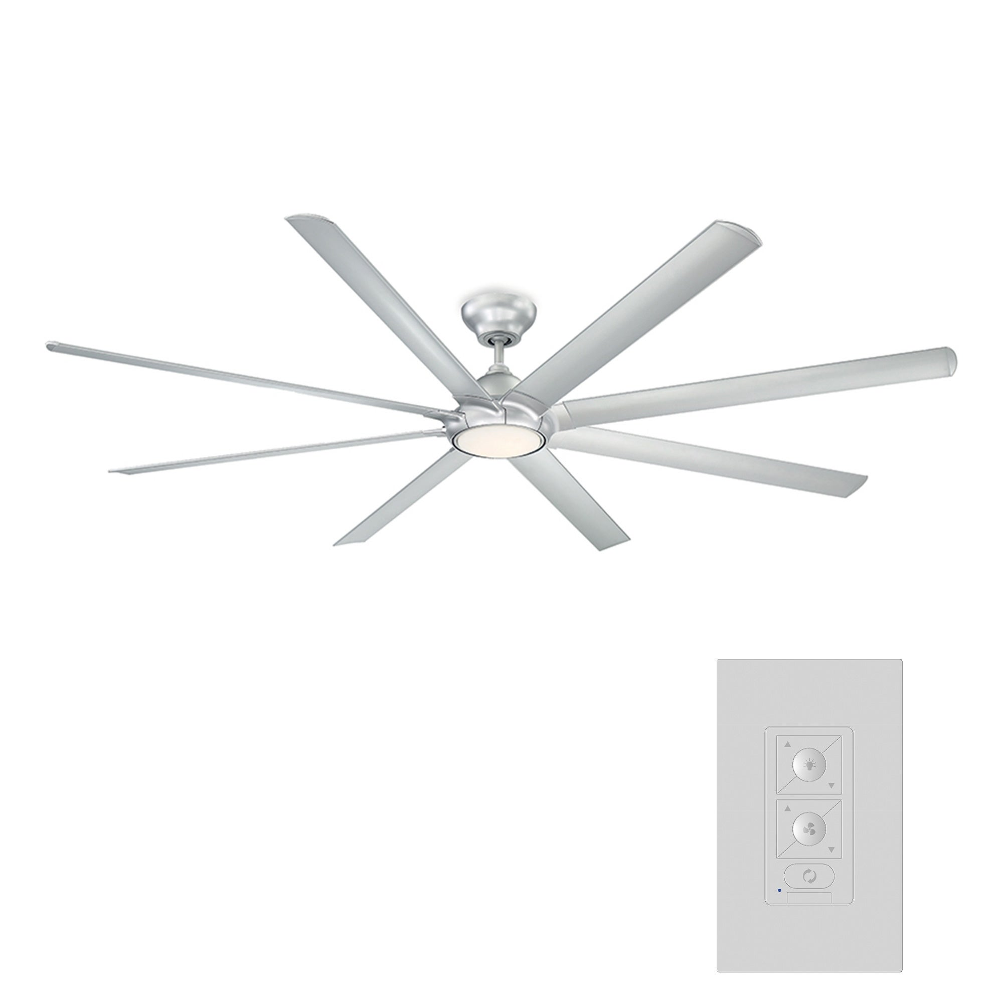 Hydra 96 Inch Eight Blade Indoor Outdoor Smart Ceiling Fan With Six Speed Dc Motor And Led Light Overstock 25737940 Bronze
