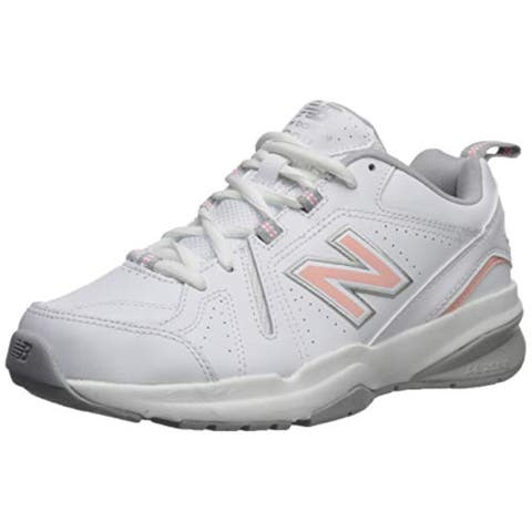 New Balance Women's 608v5 Casual Comfort Cross Trainer White/Pink 7.5 D US