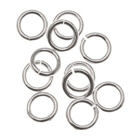Sterling Silver Open Jump Rings 4mm 21 Gauge (20)