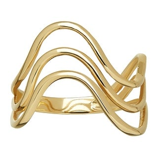 Just Gold Triple Wave Ring in 10K Gold - Yellow