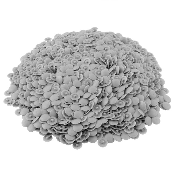 Furniture Plastic Round Shaped Cover Screw Cap Lid White 50pcs For 5mm Dia Hole Sale Price