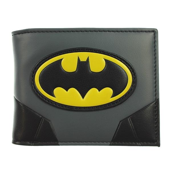 DC Comics Men's Batman Gold Logo Bi-fold Wallet - One Size Fits most