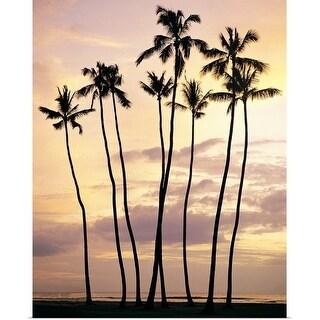 """Waikiki Beach, Oahu, Hawaiian Islands"" Poster Print"