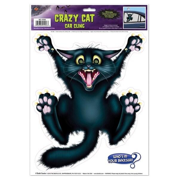 Crazy Cat Car Cling