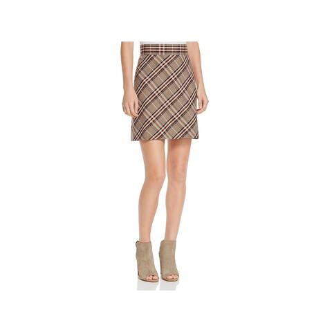 Theory Womens Bexley A-Line Skirt Mini Plaid