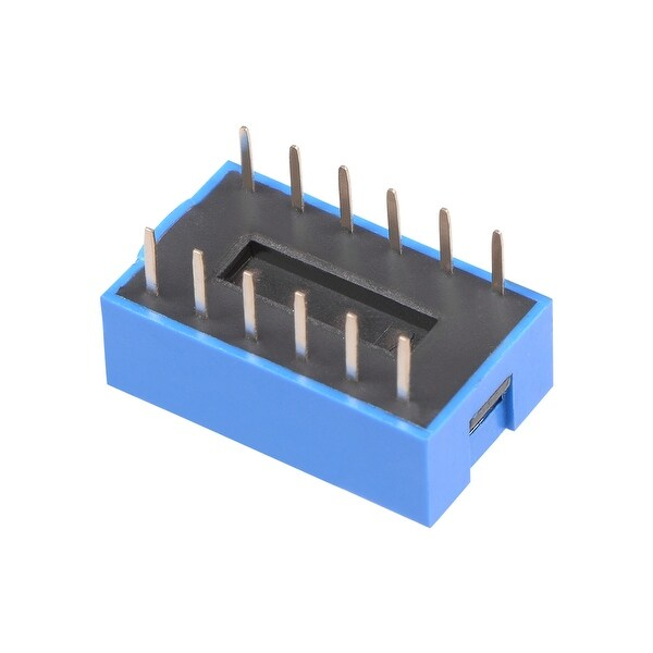 10 Pcs Blue DIP Switch Horizontal 1-6 Positions 2.54mm Pitch for Circuit PCB