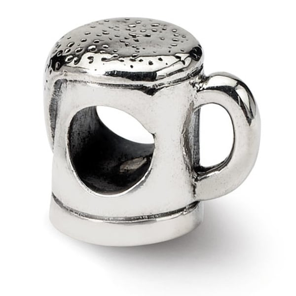 Sterling Silver Reflections Beer Mug Bead (4mm Diameter Hole)
