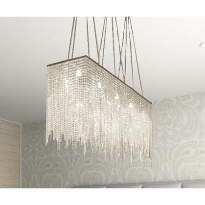Swarovski Crystal Trimmed 10 Light Modern / Contemporary Dining Room Chandelier Rectangular - Clear