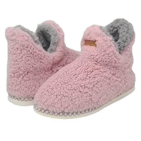 GaaHuu Womens berber slipper boot with memory foam