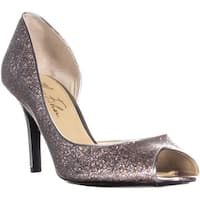 Marc Fisher Joey3  Peep-Toe Pumps, Silver Multi