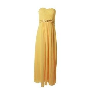 JS Boutique Womens Chiffon Strapless Semi-Formal Dress - 8