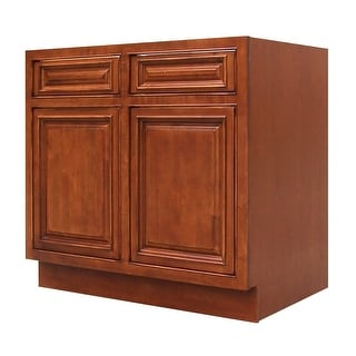 "Sagehill Designs AHB36S  Amherst 36"" Double Door Sink Base Cabinet - Burnt Cinnamon"