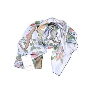 Gucci Womens 100% Silk Twill Tree Of Life Scarf