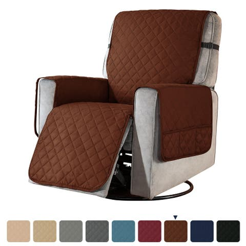 Subrtex Recliner Chair Cover Slipcover Reversible Protector Anti-Slip - Large