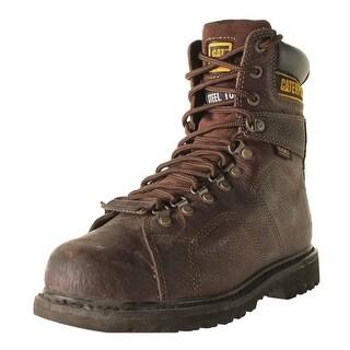 Caterpillar Mens Silverton Guard Leather Steel Toe Work Boots