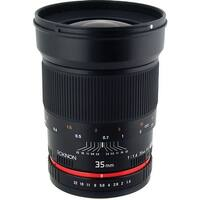 Rokinon 35mm f/1.4 AS UMC Lens for Pentax K - Black