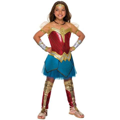 Rubies JL Premium Wonder Woman Child Costume - Red/Blue