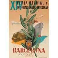 Spain - Barcelona Bigorda 1946 Vintage Ad (Cotton/Polyester Chef's Apron)