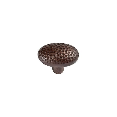 """The Copper Factory CF104 1-5/8"""" Oval Cabinet Knob"""