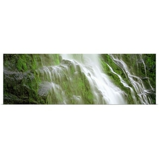 """""""Waterfall in a forest"""" Poster Print"""
