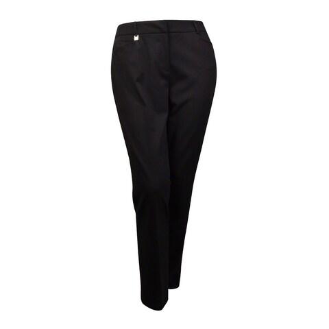 Tahari Women's 'Mike' Solid Gabardine Dress Pants - Black