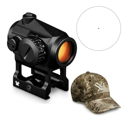 Vortex Crossfire Red Dot Sight (2 MOA Dot Reticle) and Vortex Hat