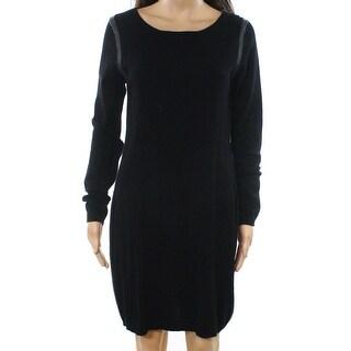 Philosophy NEW Black Womens Size Medium M Cashmere Sweater Dress