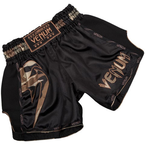 Venum Giant Lightweight Muay Thai Shorts - Black/Forest Camo