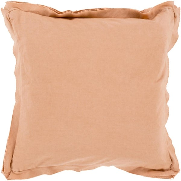"20"" Blush Pink Flanged Trim Decorative Throw Pillow"