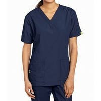 Cherokee Navy Blue Womens Size Medium M V-Neck Medical Scrub Top
