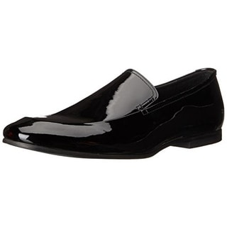 Calvin Klein Mens Nicco Patent Leather Slip On Loafers - 9.5 medium (d)
