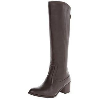 Charles David Womens Ramu Knee-High Boots Leather Almond Toe