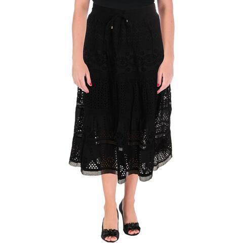 Lauren Ralph Lauren Womens Lorelei Maxi Skirt Eyelet Long