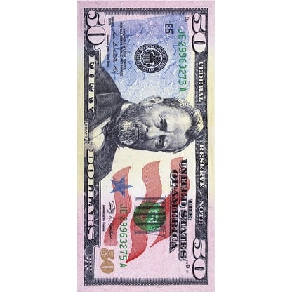 New 50 dollar bill velour brazilian beach towel 30x60 inches - Multi-color
