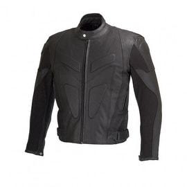 Men Motorcycle Biker Leather Jacket Full Zip out Liner CE Armor Black MBJ006