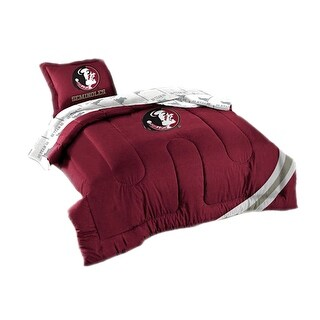 Officially Licensed FSU Florida Seminoles 7 Piece Full Size Comforter Set - Red