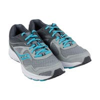 Saucony Grid Cohesion 10 Womens Gray Blue Mesh Athletic Running Shoes