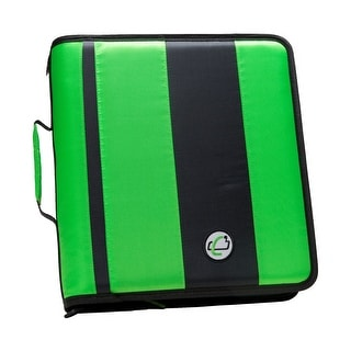 Link to Case-it Classic O-Ring Zipper Binder, Green, 2 Inches Similar Items in Binders