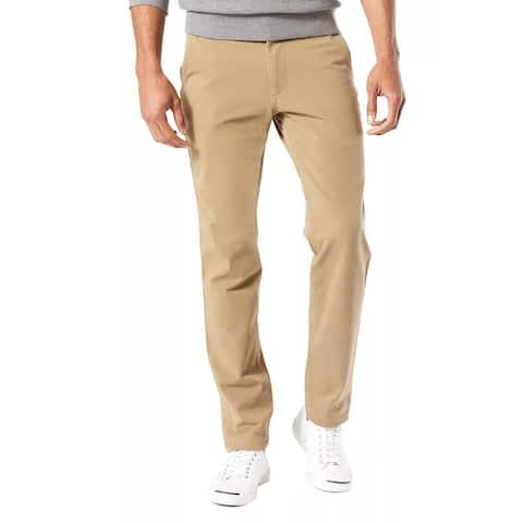 Dockers Mens Smart 360 FLEX Slim Tapered Fit Khaki Pants 34 x 34 British Khaki