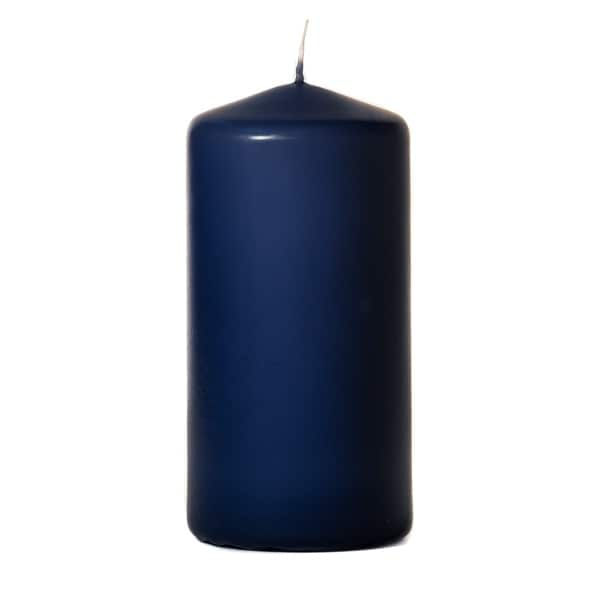1 Pc 3x6 Navy Pillar Candles Unscented 3 in. diameterx6 in. tall