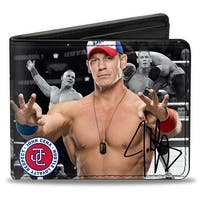 John Cena 6 Vivid Poses Autograph Bi Fold Wallet - One Size Fits most
