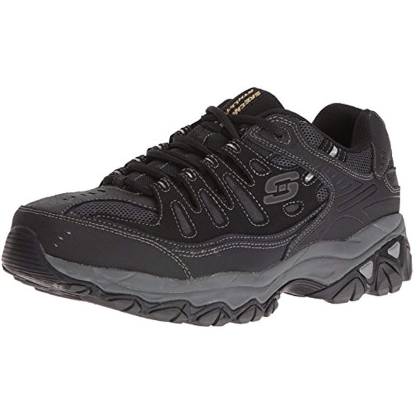 ab80b60c8b31 Shop Skechers Men's After Burn M.Fit Memory Foam Lace-Up Sneaker, Black,  11.5 M Us - Free Shipping Today - Overstock.com - 25630934