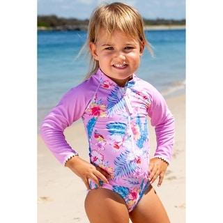 Link to Sun Emporium Paradise Print Long Sleeve Swimsuit Little Girls Similar Items in Girls' Clothing