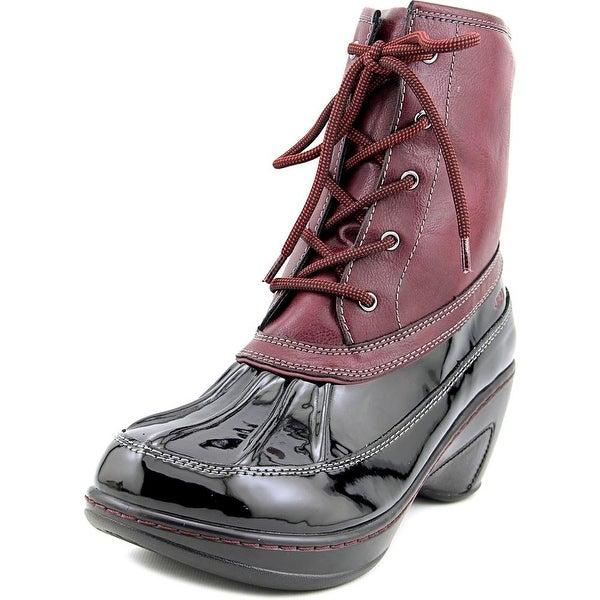 JBU by Jambu Caramel Round Toe Synthetic Rain Boot
