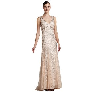 Sue Wong Beaded Floral Embroidered Tulle Evening Gown Dress - 4