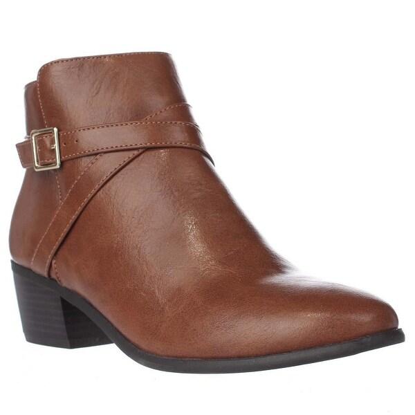 KS35 Flynne Buckle Ankle Boots, Cognac