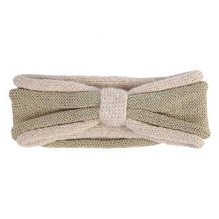 Mad Style Cream Glimmer Bow Headwrap